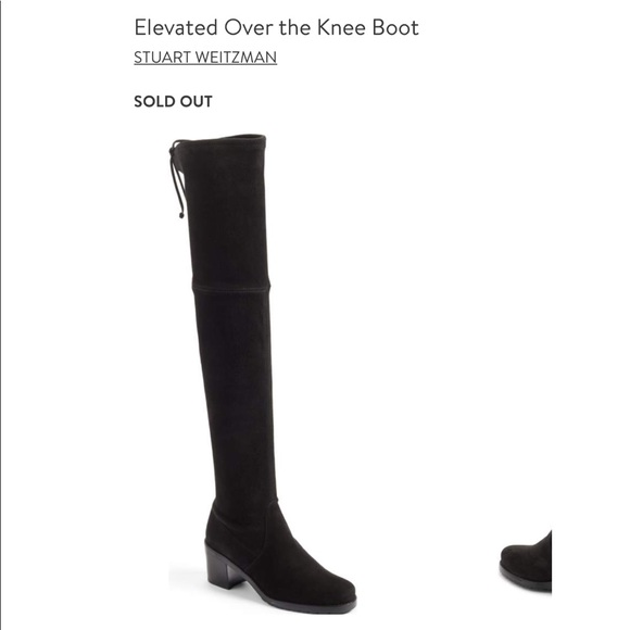 890d07735f0 Stuart Weitzman Elevated OTK Boots NIB Sz  7